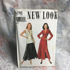 New Look 6198 ruffle jacket, skirt, vest vintage UNCUT sewing Pattern size 6-16