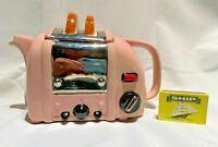 retro toaster  teapot   swineside teapottery