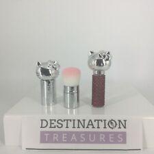 Hello Kitty Retractable Cosmetic Brush & Red Crystal Perfume Rollerball NWOB