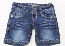 Truce Women's Shorts SZ 0  Cotton Blend Rolled Sewn Cuff Hem Denim Jean