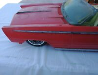 "1964 Reading Deluxe Crusader 101 30"" Long Parts Red Convertible Car RC Car Shell"