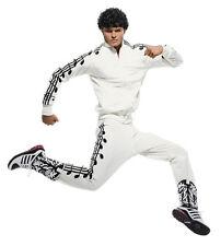 Adidas Jeremy Scott Music Note Black/White Track Jacket Top Super Bowl Madonna