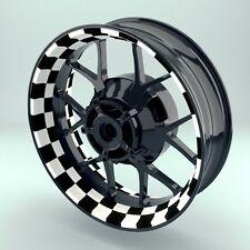 """Felgenaufkleber Felgenrandaufkleber Premium Wheelsticker  """"Racingflag V1"""""""
