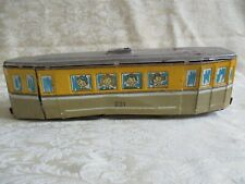 HTF Antique Tin Friction Trolley Train Toy Car #231 With Children's Faces