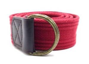 $230 Levi'S Men'S Red Canvas Buckle Casual Belt 42