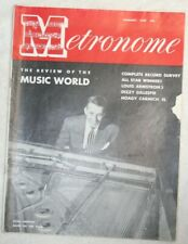 Vintage Metronome Music Magazine January 1947 Review of the Music World
