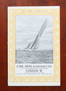 CARL ZEISS LONDON BRITISH JOURNAL ALMANAC ADVERTISEMENT, NO DATE/cks/211588