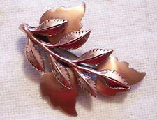 Lovely Vintage Renoir Copper Leaf Pin