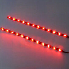 2PC Red 12V Car Decor Waterproof 12 LED 30cm 5050 SMD Strip Flexible Light
