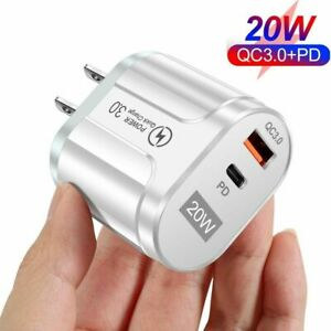 Wall Charger Type C 20 Watt With QC3.0 +PD Quick Charge Type C and USB 2 Ports