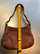 Coach Light Brown Perforated Leather Cross Body Bag 9217 USA
