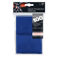Ultra PRO Deck Protector Sleeves Standard Card BLUE 100ct 66 x 91mm
