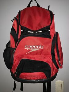 Speedo Red One Size Laptop Travel Swimmer Teamster Backpack 35L