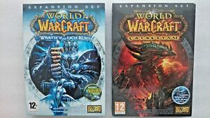 World of Warcraft Wrath of The Lich King and Cataclysm PC Expansion Packs  NEW