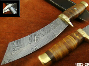 ALISTAR 12'' HANDMADE DAMASCUS STEEL HUNTING KNIFE W/SHEATH (4881-29