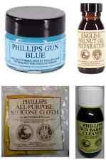 PHILLIPS WALNUT OIL, BARREL CLEANER, GUN BLUING, SILICONE CLOTH -MAINTENANCE KIT