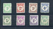 Gilbert & Ellice Islands KGVI 1940 Postage Dues set of 8 SG.D1/8 MNH