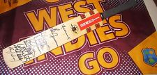 West Indies 2000/01 Test team signed mini cricket bat - includes Brian Lara