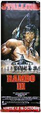 RAMBO 3 Affiche Cinéma Movie Poster SYLVESTER STALLONE 160x60
