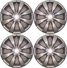 "NEW 2009-2015 TOYOTA COROLLA MATRIX 16"" 8-spoke SILVER Hubcaps Wheelcover SET"