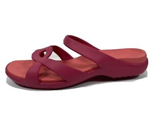 Crocs Pink Slide Sandals Womens 11 Slip On