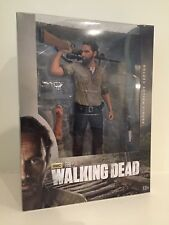 "Walking Dead Tv Rick Grimes 10"" Inch Deluxe Action Figure Mcfarlane Toys Nib"