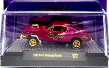 M2 MACHINES 1966 FORD MUSTANG FASTBACK GASSER COLLECTIBLE CHASE Purp/Gold 1/300