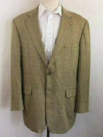 Men's BURBERRY LONDON Windowpane Silk Sport Coat Suit Jacket 44L USA Made
