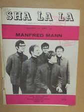 song sheet SHA LA LA Manfred Mann 1964