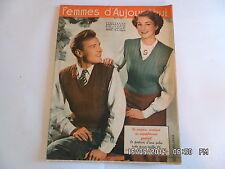 FEMMES D'AUJOURD'HUI AVEC PATRON ROBE TAILLEUR N°278 31 AOUT 1950      F95