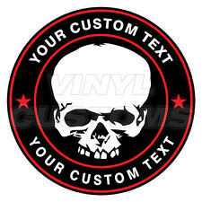 "2"" Custom Logo Decal Sticker Your Text Here Decal Sticker Skull"