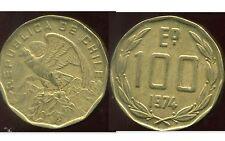 CHILI   100  escudos 1974  ANM  ( bis )
