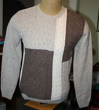 $79 ROUNDTREE /& YORKE Wine Red Crewneck Mens Cable  Sweater XL NWT G34 Box 78
