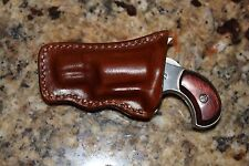 Custom Leather Pocket Holster for NAA .22 LR 1 1/8 in Barrel Form Fitted
