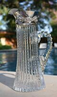 Antique ABP Sterling Silver CHERUBS ANGELS PUTTI American Cut Glass Pitcher Ewer