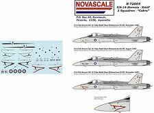 RAAF F/A-18 Hornet Decals 1/72 Scale 3 Sqn Cobra N72005