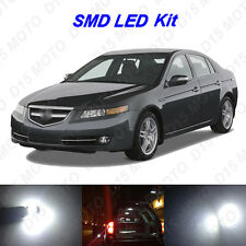 11 x White LED Interior Bulbs + License Plate Lights for 2004-2008 Acura TL