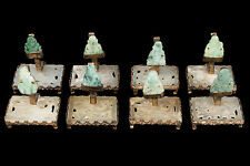China 20. Jh. - A Set of Eight Chinese Jadeite Card Holder - Chinois Cinese