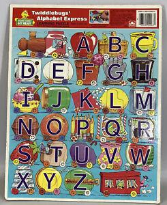 Vintage Sesame Street Twiddlebugs Alphabet Express Cardboard ABC Puzzle 1986