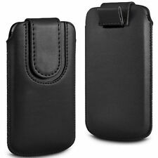 Black Magnetic PU Leather Pull Tab Case Cover For BlackBerry Bold 9790