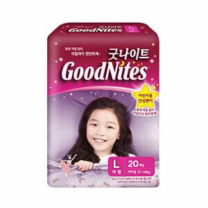 """Korea diaper"" GoodNites Bedtime Bedwetting Underwear for Girls, Size L - 20Ct"
