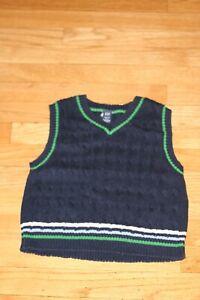 Baby Gap Navy Green V-Neck Pullover Sweater Vest Size 2yrs