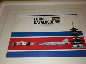 VINTAGE 1980 FUJIMI MODEL HOBBY KIT CATALOG COLLECTION SHIPS PLANES CARS TANKS