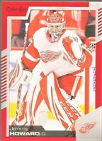 2020-21 UD O-Pee-Chee Red Border #448 Jimmy Howard Detroit Red Wings