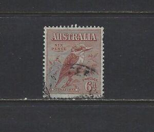 AUSTRALIA - 1932 6d KOOKABURRA USED STAMP
