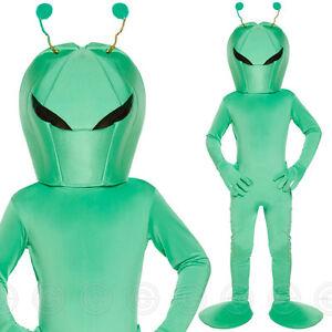 BOYS SPACE ALIEN FANCY DRESS COSTUME SCI FI GREEN MARTIAN KIDS WORLD BOOK DAY