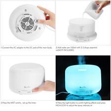 500ML Aroma Diffuser Atomizer Air Humidifier LED Ultrasonic Purifier Lonizer