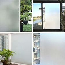 200 X 60CM White Privacy Frosted Film Frost Glass Sticky Back Plastic Vinyl UK