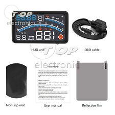 Universal Car HUD Head Up Display OBD2 Speedometer Projector Warning ELM327