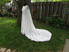 Vintage 60's White Wedding Dress Handmade Size S